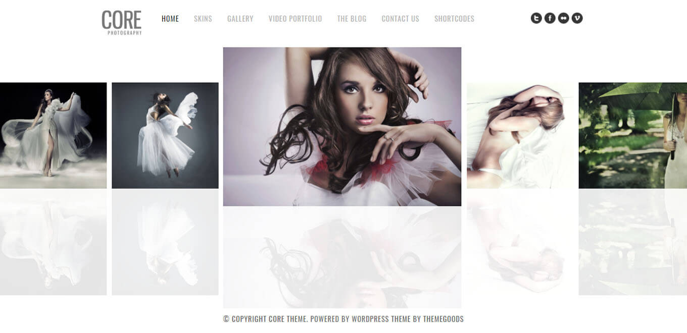 Core Minimalist Photography theme for WordPress