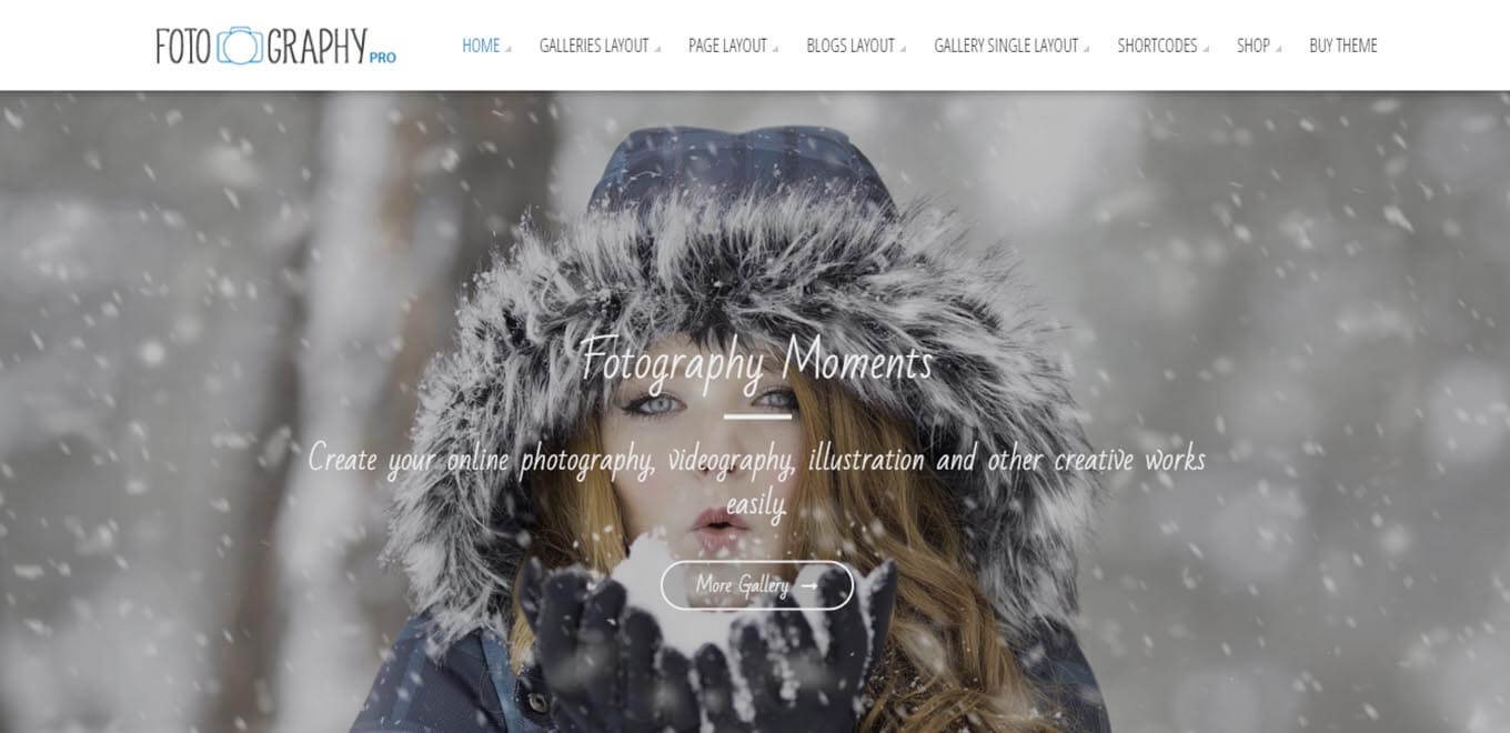 Fotography Premium WordPress Photography theme
