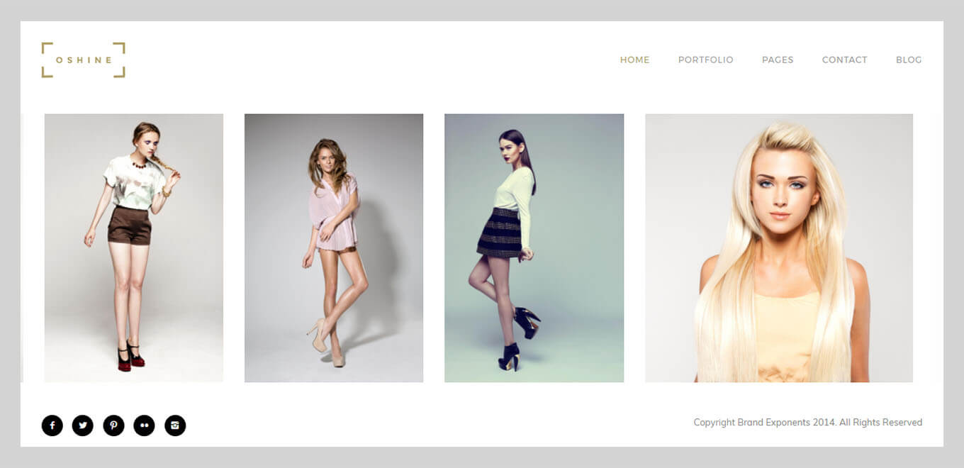 Oshine Best Portfolio & Photography theme