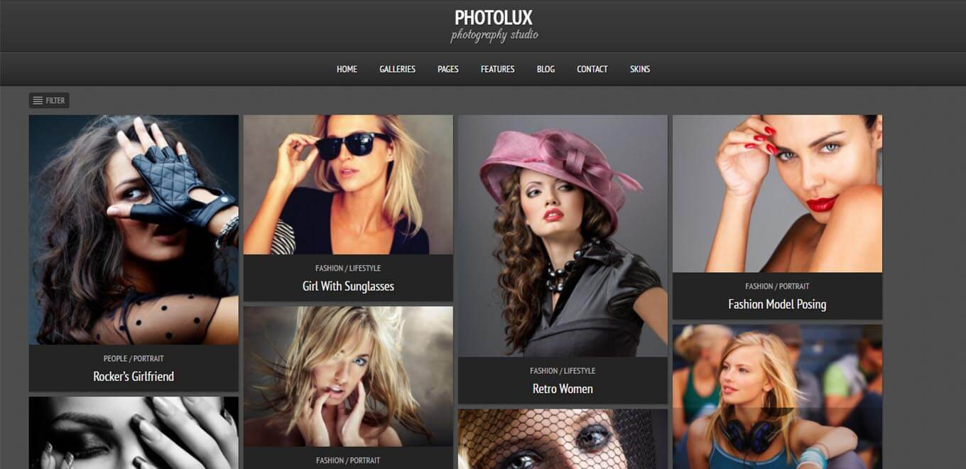 Photolux – Premium Photography theme for WordPress