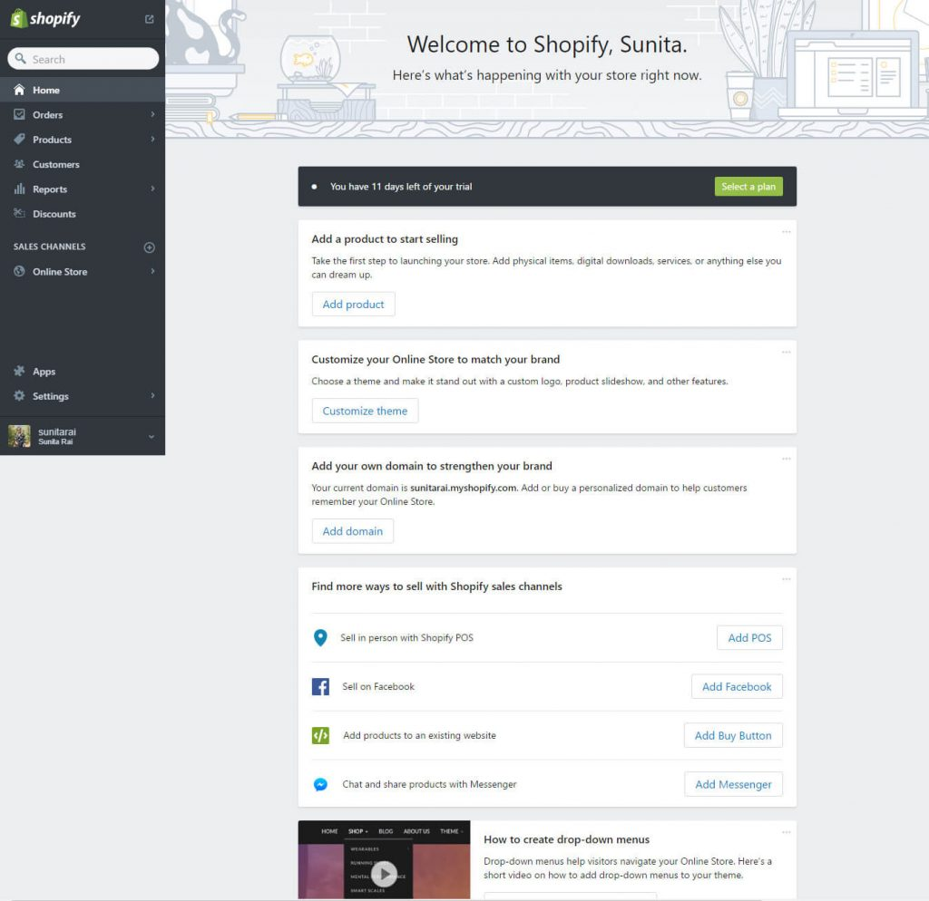 Shopify-start-ecommerce-site