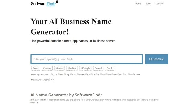 Software Finder - Domain Name Generator