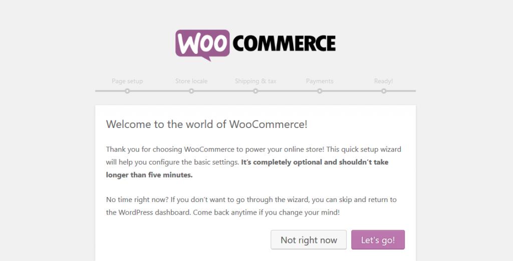 WooCommerce- Setup Wizard