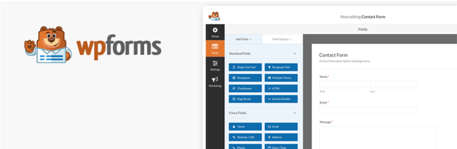 Contact Form by WPForms Drag Drop Form Builder for WordPress