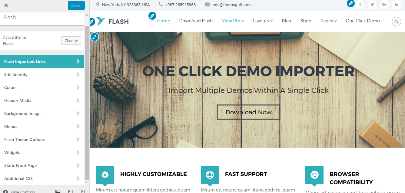 Customize-Flash-theme-with-demo-content
