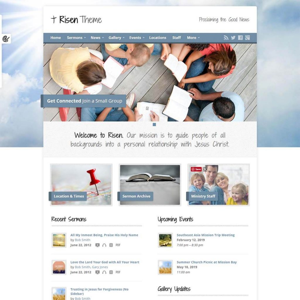 Association website template wordpress 40 church website themes.