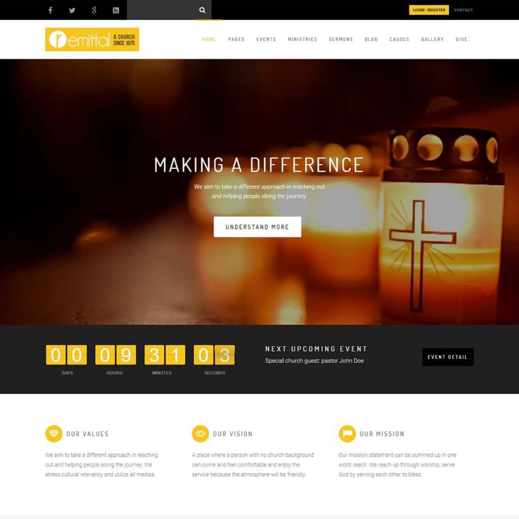18 best church wordpress themes for your church (2019).