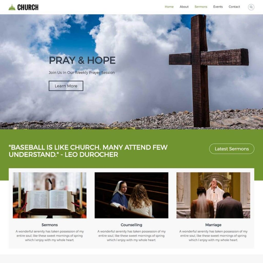 Free wordpress themes for churches vandelay design.