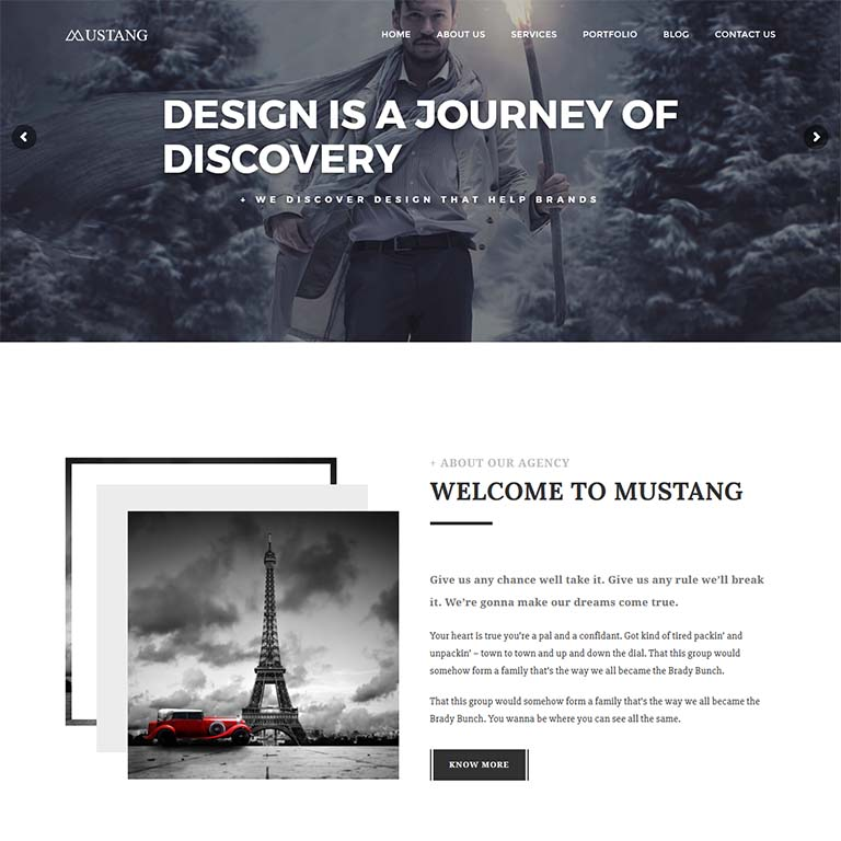 Mustang-simple-wordpress-themes