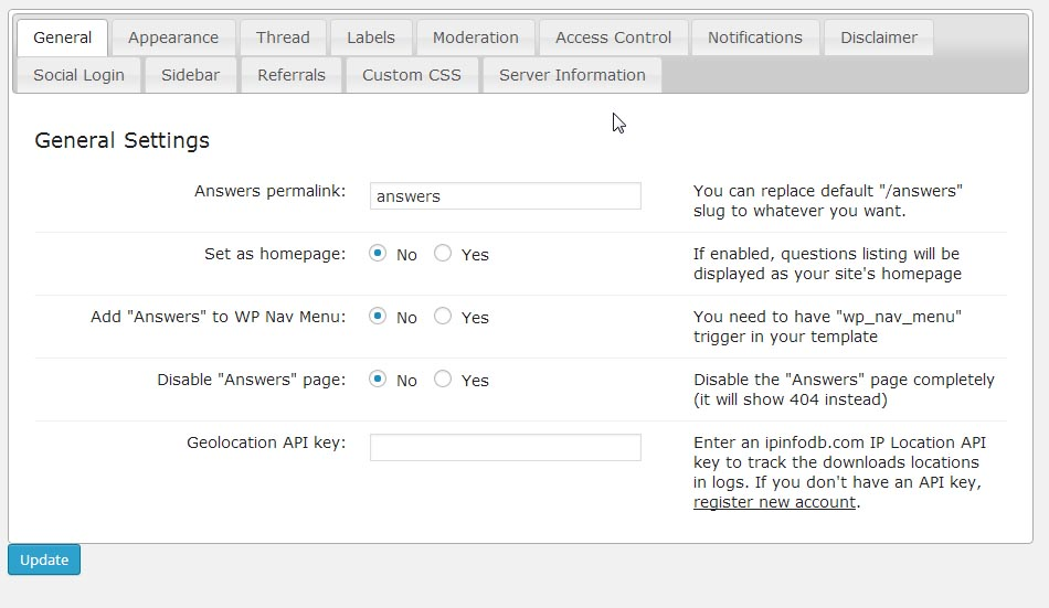 cm-answers-wordpress-forum-plugin-settings