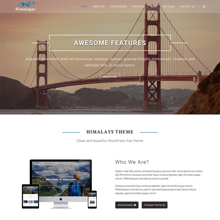 himalayas-simple-WordPress-themes