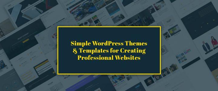 17+ Best Minimalist Simple WordPress Themes & Templates for 2019 – Create Professional Websites (Premium)