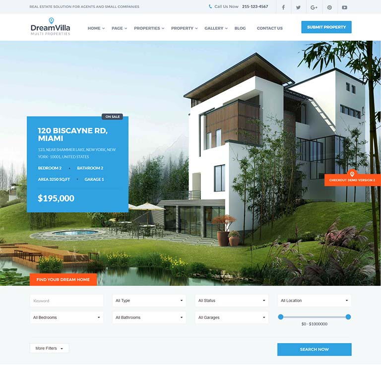 Dreamvilla-real-estate-WordPress-themes