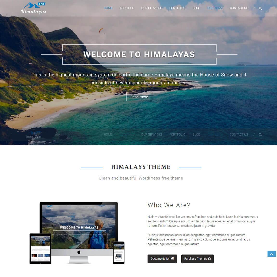 Himalayas-wordpress-one-page-parallax-theme