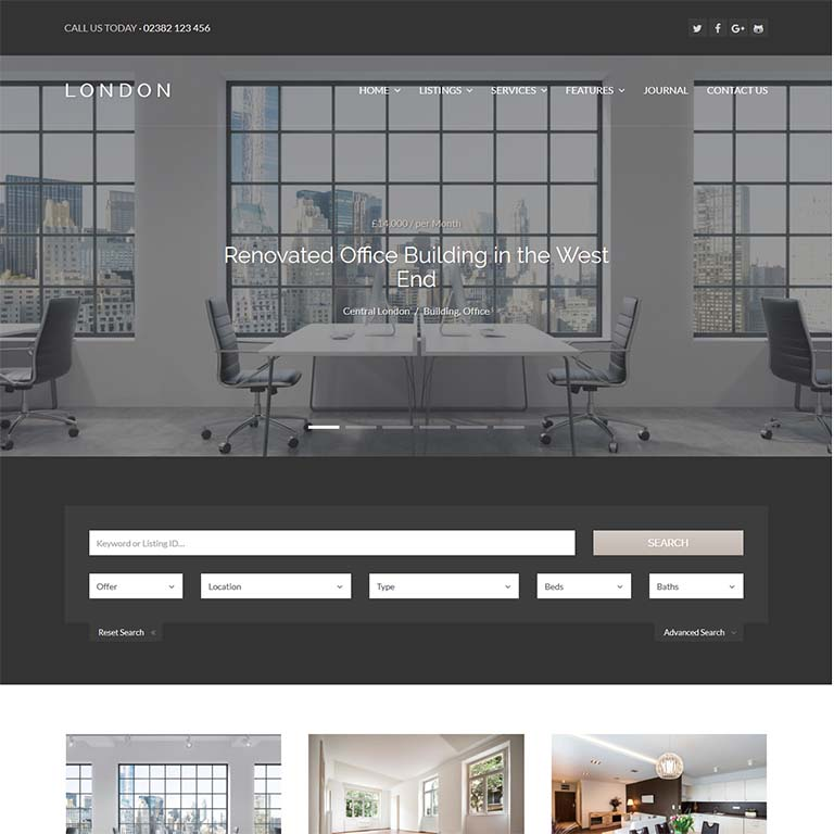 London-real-estate-WordPress-themes