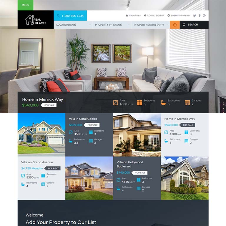 free real estate wordpress themes 2018