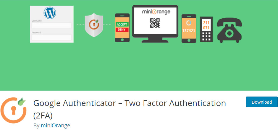 Plugin hai bước-Google-Authenticator-wordpress -security-plugin