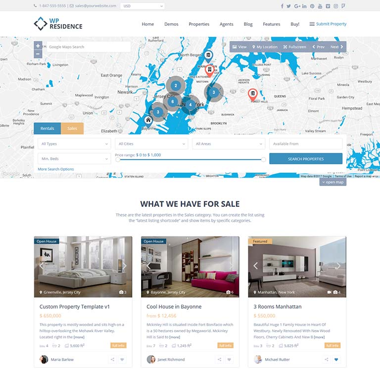 WPresidence-real-estate-WordPress-themes