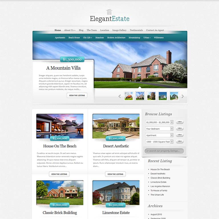 elegantEstate-real-estate-WordPress-themes