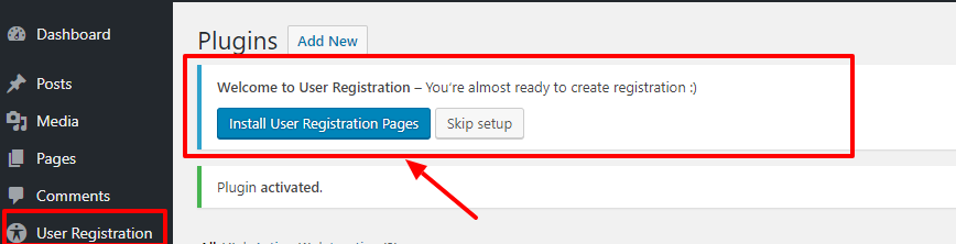 user-registration-wordpress-plugin-install-pages