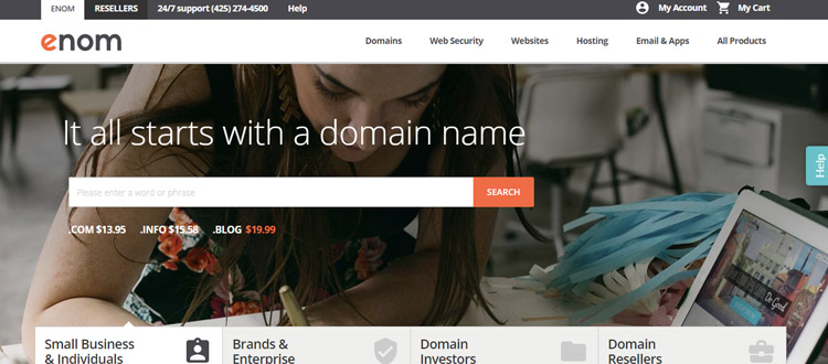 enom-best-domain-name-resgitration-company