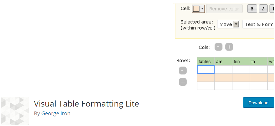 visual-table-formatting-WordPress-table-plugin