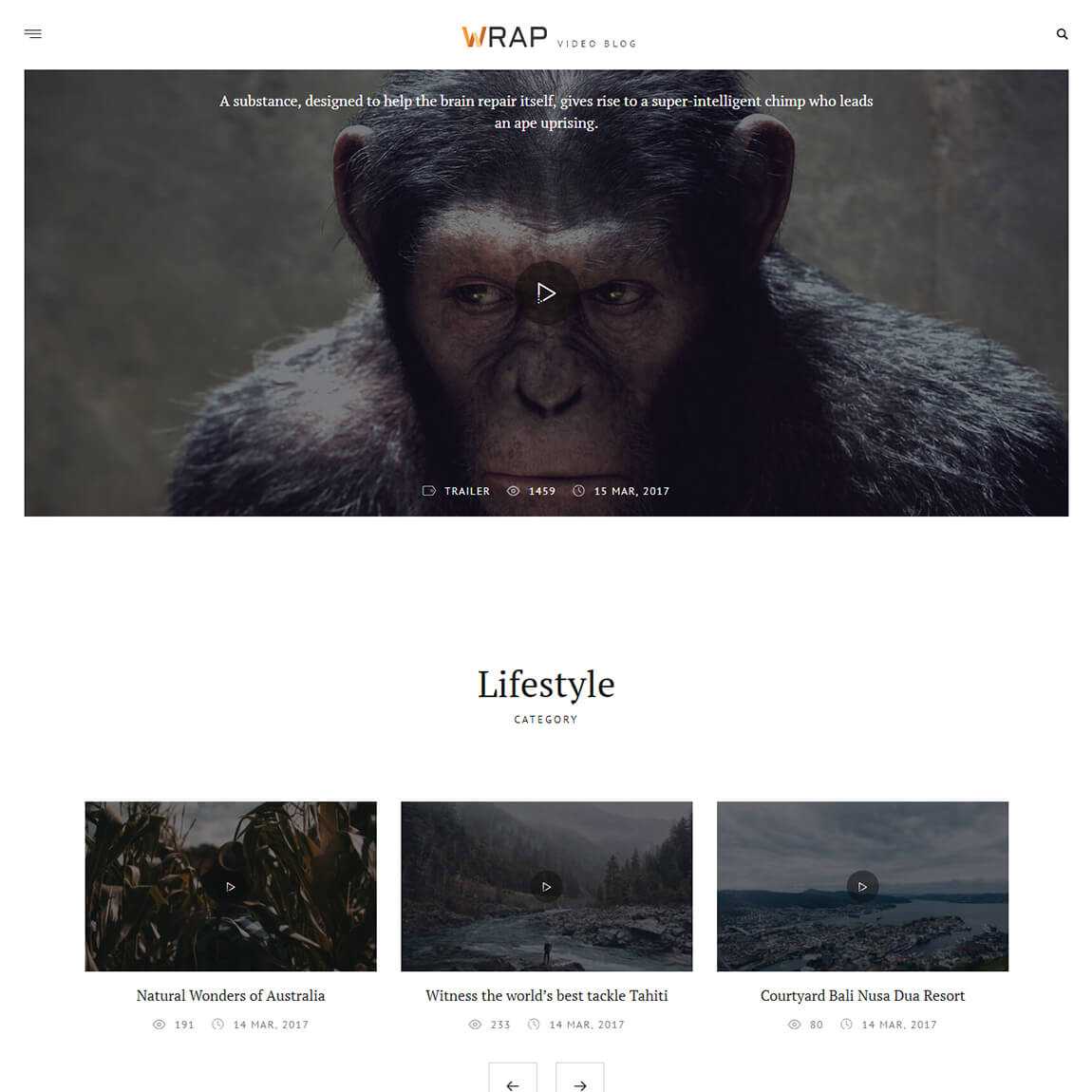 wrap-wordpress-video-blogging-theme