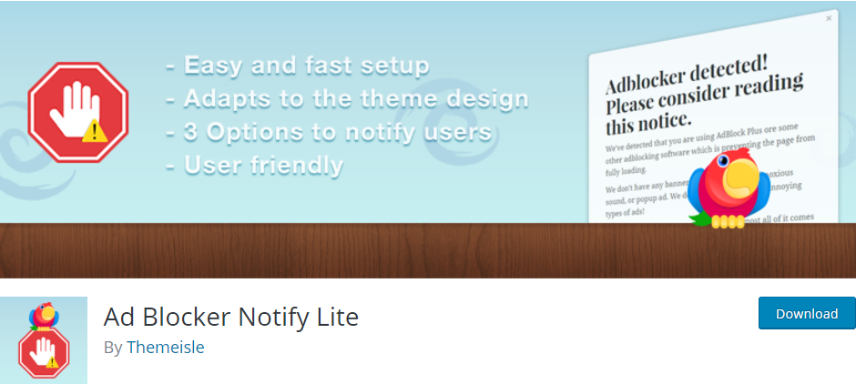 Ad-Blocker-notify-Lite-wordpress-plugin