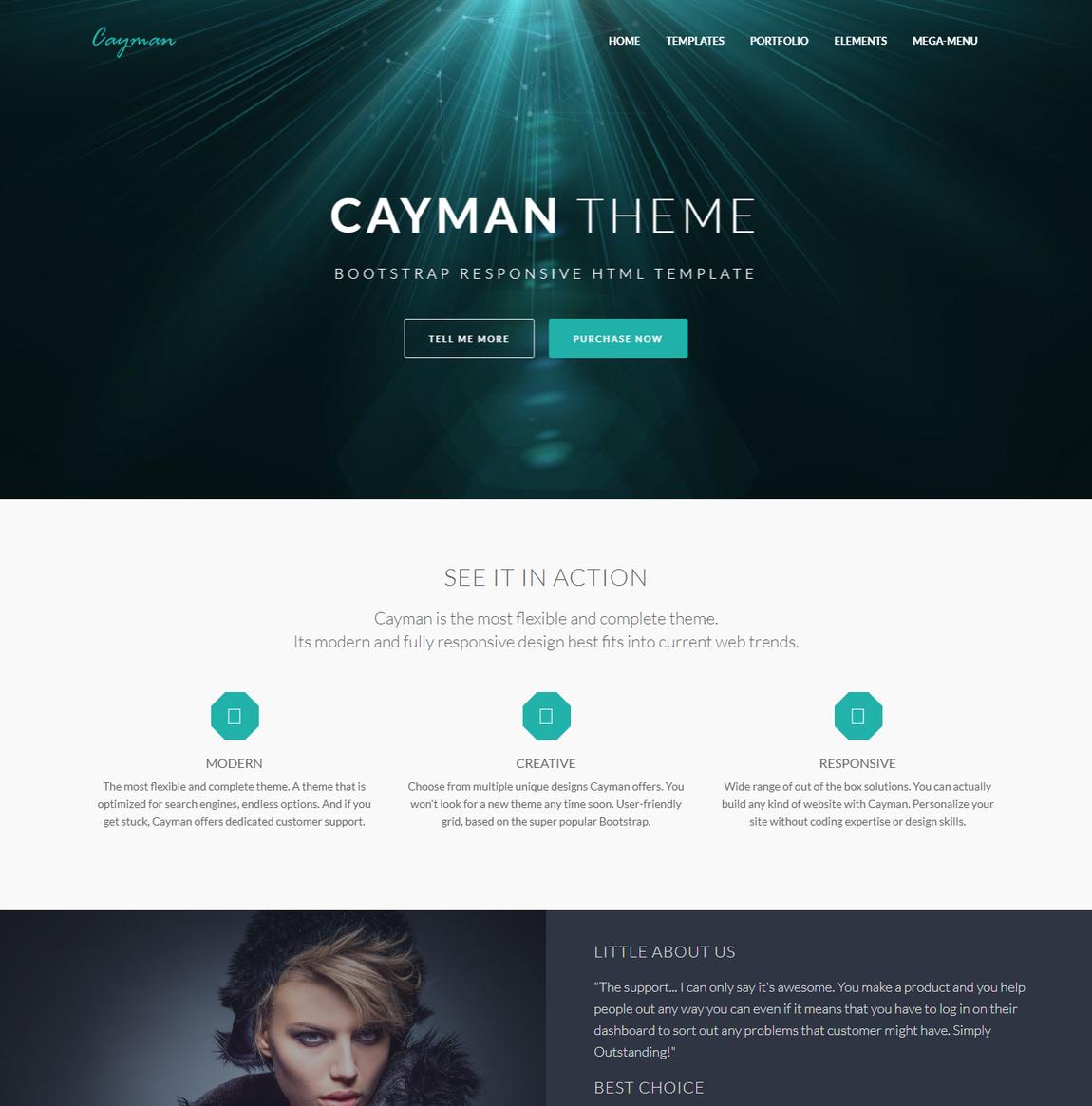 Cayman BootStrap WordPress Theme