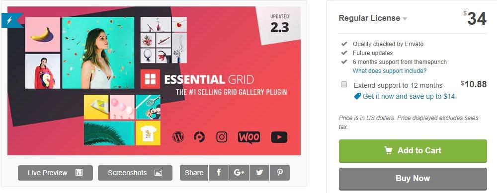 Essential Grid - Portfolio WordPress Plugin