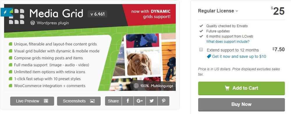 Media Grid - Portfolio WordPress Plugin