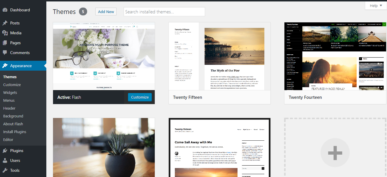 appearance-menu-dashboard-wordpress-themes