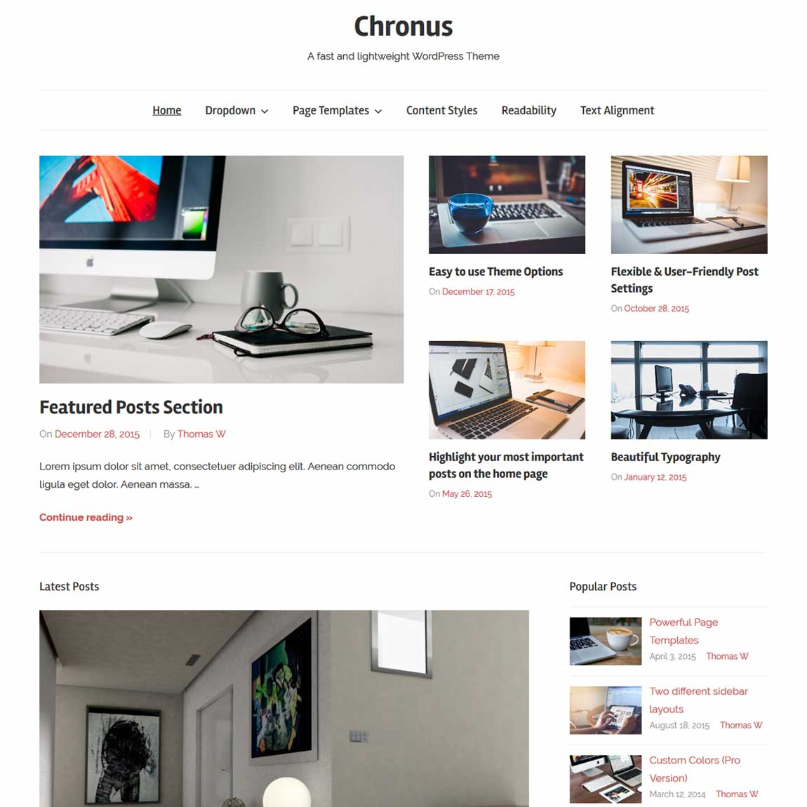 chronus-free-minimal-wordpress-theme