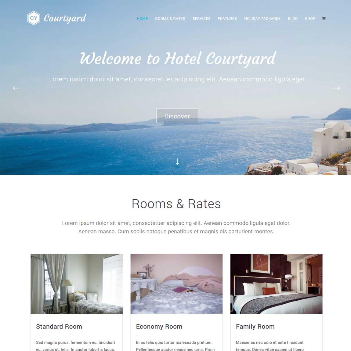 courtyard-minimalist-free-wordpress-themes