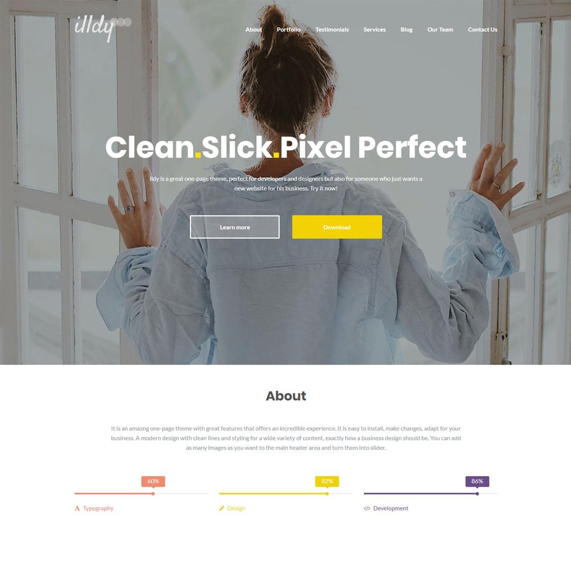 illdy-free-minimalist-wordpress-themes