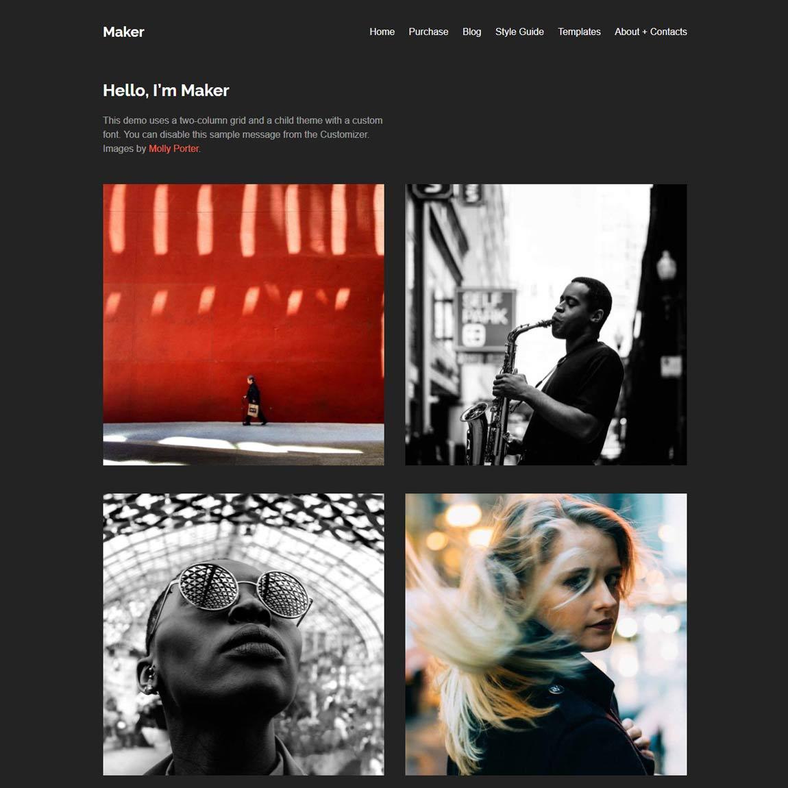 maker-free-minimal-wordpress-themes