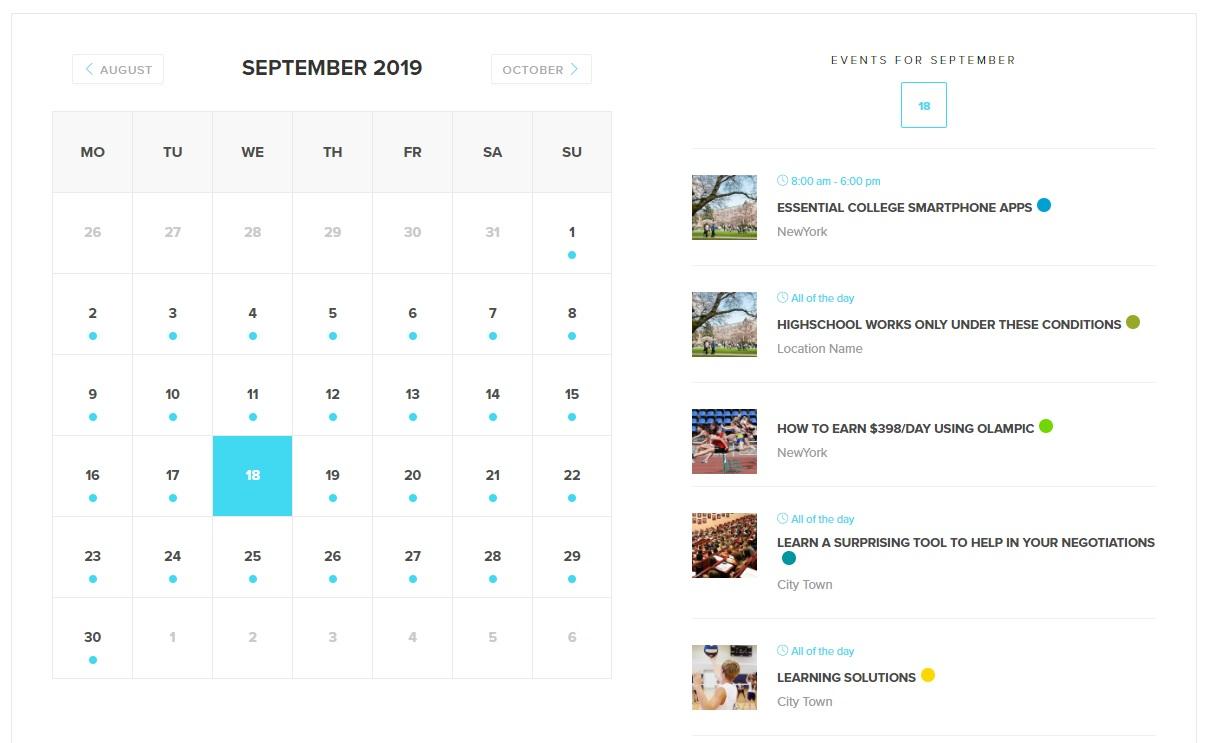 modern event calendar best event calendar plugins demo