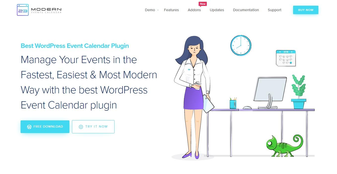 modern event calendar best event calendar plugins homepage 1