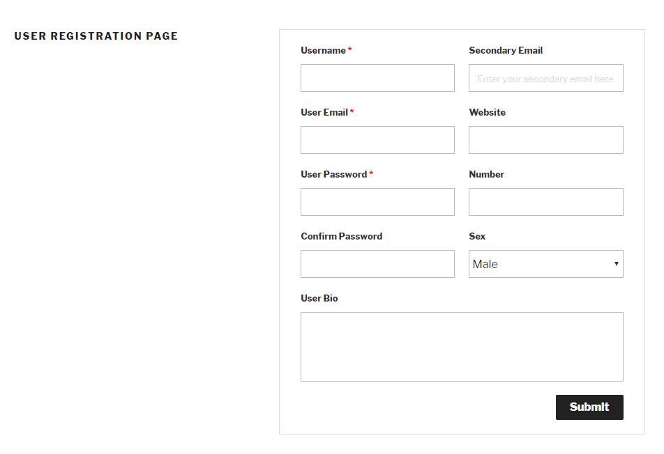 User-Registration-form-front-end