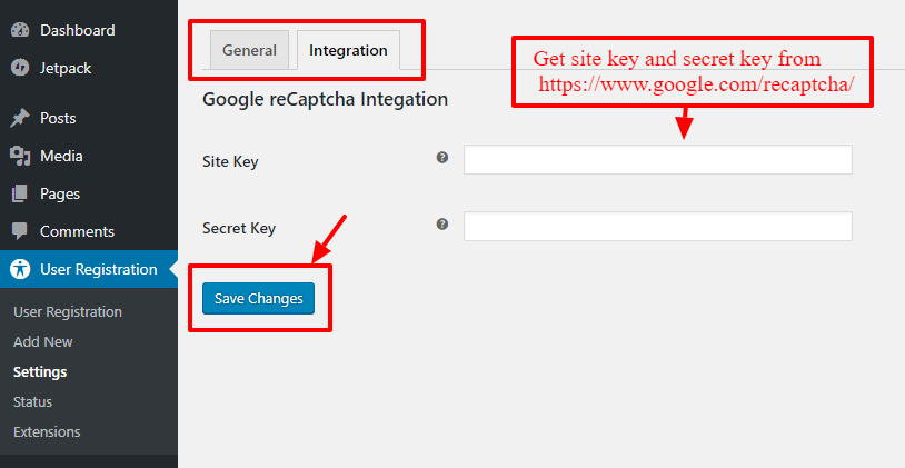 User-Registration-settings-integration