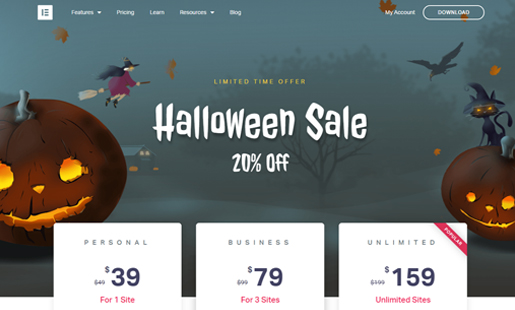 elementor-wordpress-halloween-deals