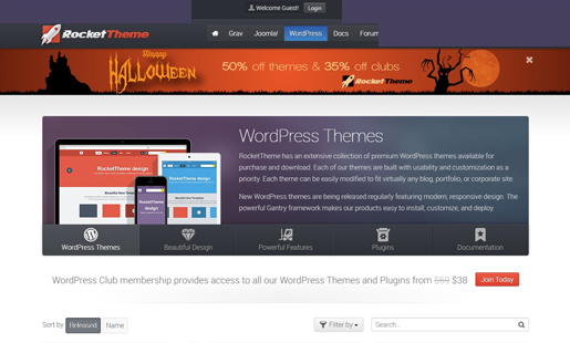 rocket-theme-wordpress-halloween-deals