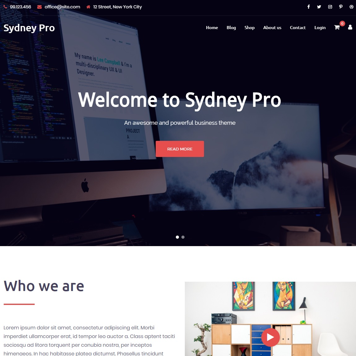 sydney-customizable-wp-theme