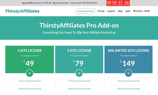 thirstyaffiliates-wordpress-halloween-deals