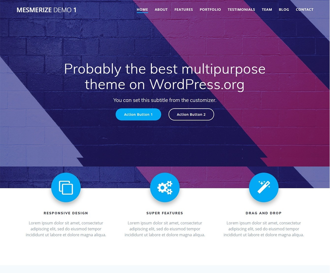 Mesmerize-highly-customizable-wp-themes