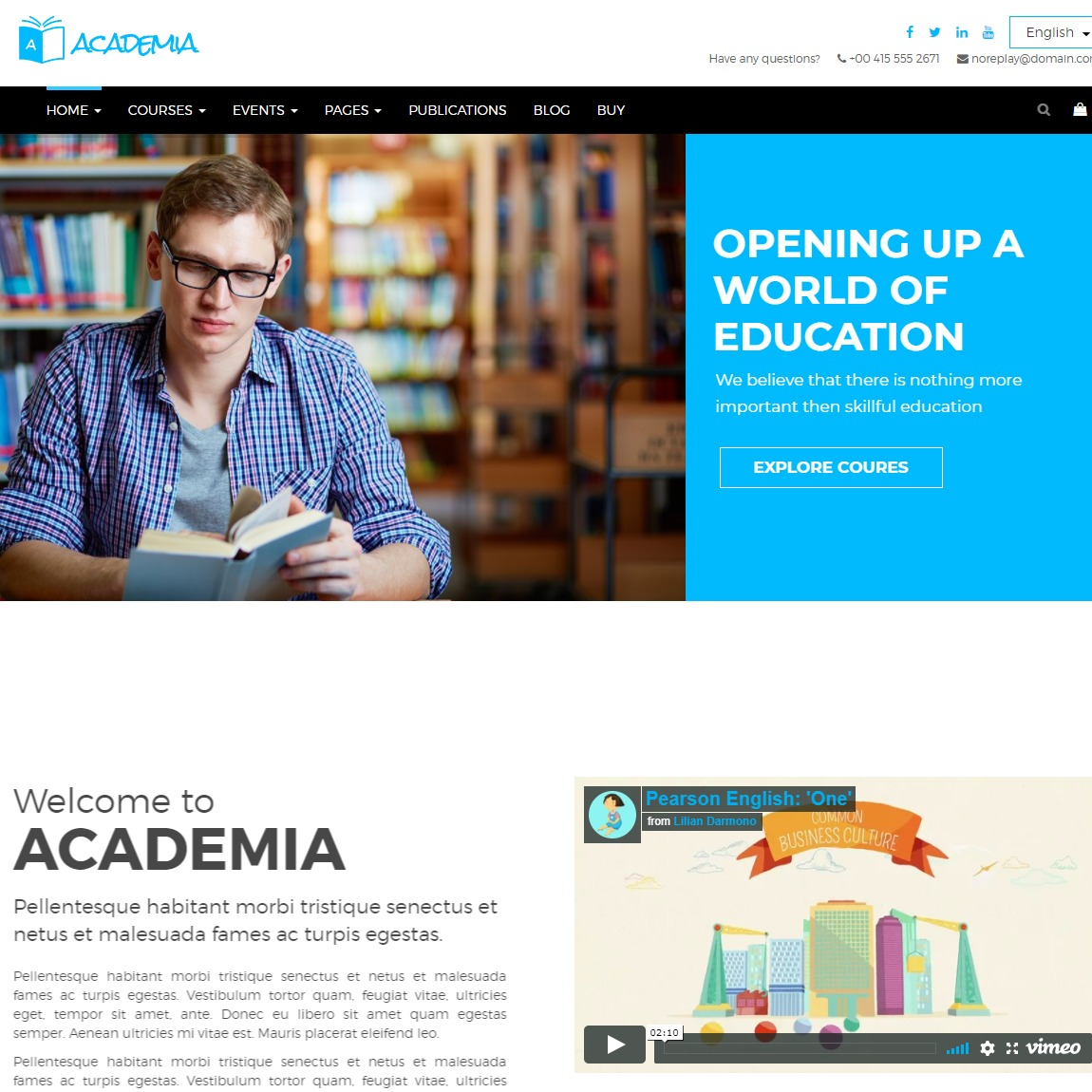 academia-education-wordpress-template