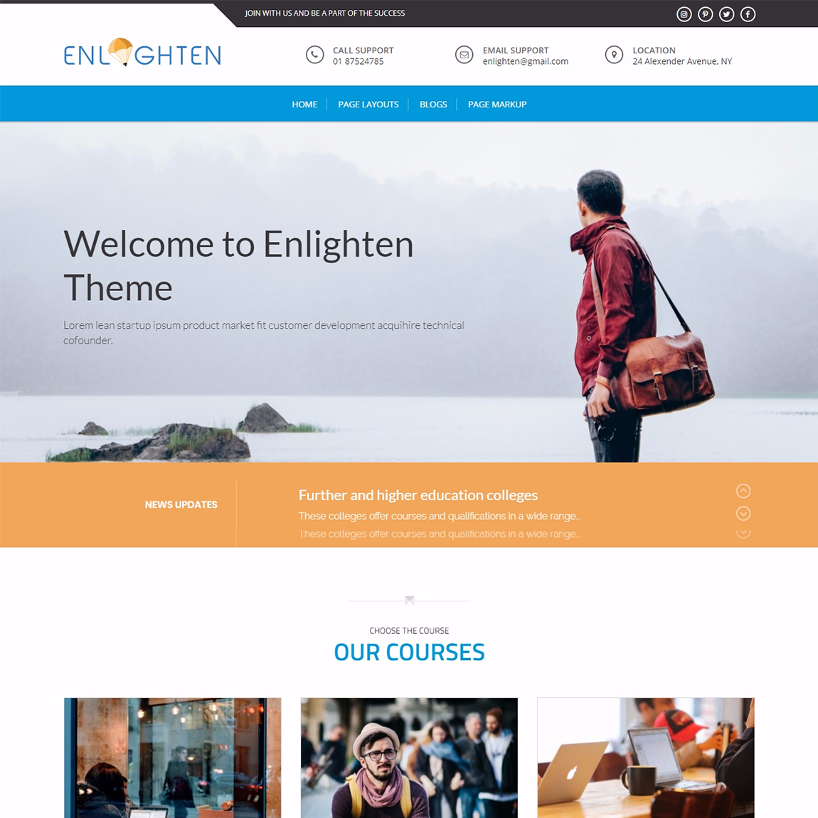 Enlighten-WordPress-education-thems