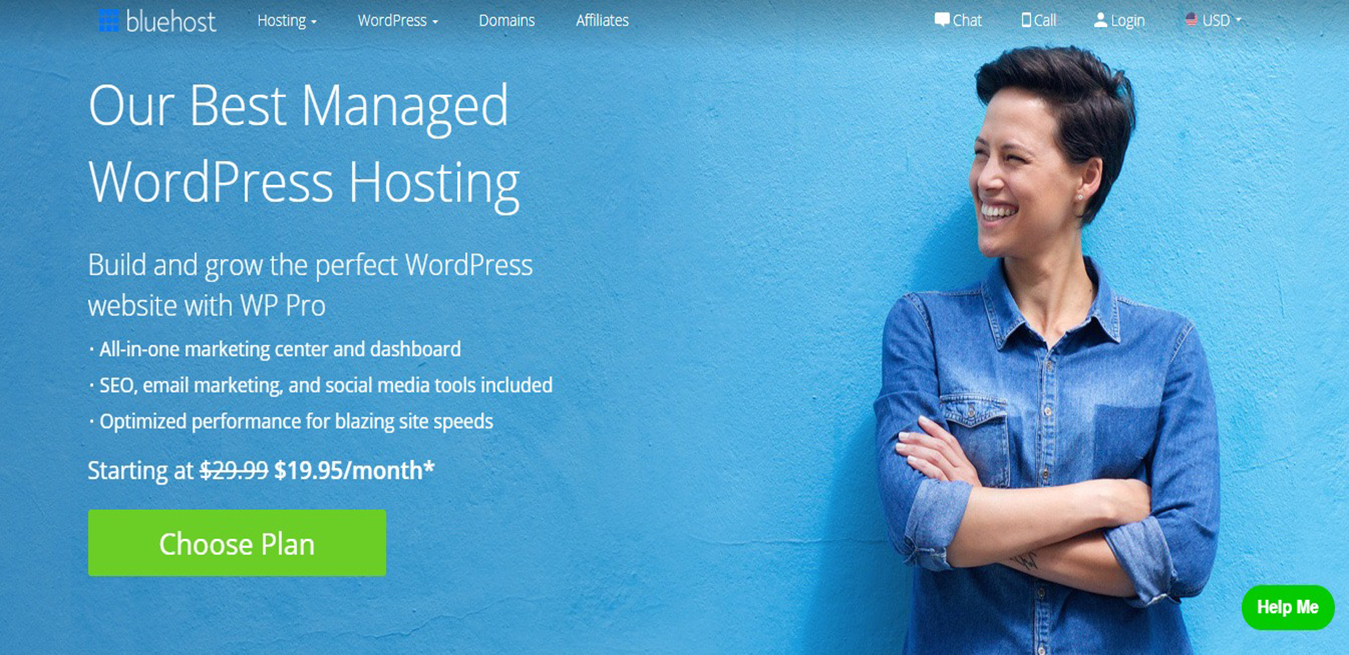 Fully Managed WordPress Hosting WP Pro Bluehost