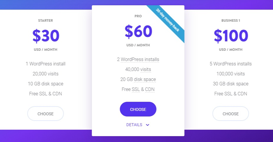 Plans and Pricing - Kinsta Managed WordPress Hosting