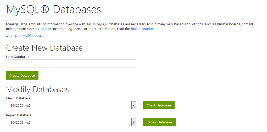 create-mysql-database